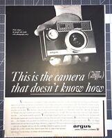 Life Magazine Ad ARGUS General Telephone & Electronics Camera