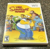 The Simpsons Game (Nintendo Wii, 2007) Complete w/ Manual & Poster - Free Ship
