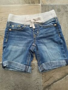 Justice jeans shorts girls size 6 slim,pull on, soft waist