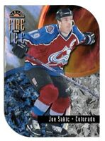 1997-98 Joe Sakic Leaf Fire On Ice Insert 0817/1000 - Colorado Avalanche