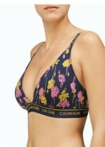 Calvin Klein Women's CK ONE Lightly Lined Triangle Bralette QF5730 Sweet Rosie