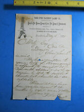 1875 IVES PATENT LAMP MARSH'S PAT NY  LETTERHEAD LETTER ORIGINAL