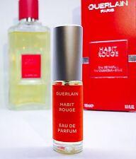 5ml Sample of Habit Rouge EDP By Guerlain - Leather Vanilla Rose Citrus
