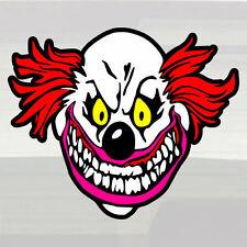 "No Fear of Evil Clowns! LARGE 14.5""x12"" Vinyl Decal Sticker Clown Madman Loco!"