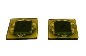 Lot 2 Multicolor Translucent Geometric Square Green Bakelite Button Set