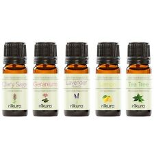5 x 10ml Essential Oils 100% Pure - Best Sellers - Gift Set Nikura