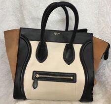 f12791d69454 Celine Phantom Bag Black Brown And Bone Leather Medium Luggage
