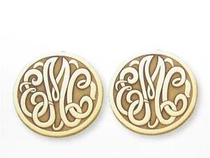 Special Order 3 Letter Initial Sterling Silver Monogram Earring Unique Laser Cut