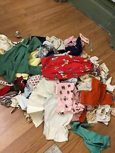 Lot Of Vintage Doll Dress Outfits Bisque Ideal Vogue French German Effanbee