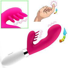 100%waterproof Stimulator_Clitoris_ Flexible Large Rabbit Dildo_G-Spot_Vibrator