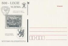 Poland postcard Gdansk - 800 years Tczew crest (black)
