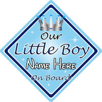 Personalised Child//Baby On Board Car Sign ~ Sons On Board ~ L.Blue
