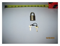 """Distinctive Smooth Brass Corbin Padlock  in """"New and Unused"""" Condition. $19.50"""