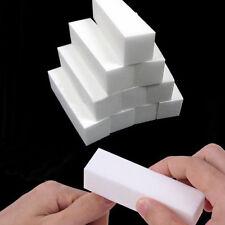 2Pc White Nail Art Polisher Buffer File Block Polishing Buffing Sanding Manicure
