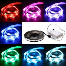 1M/2M 30 LEDs RGB SMD5050 Guirlande Étanche Lampe Lumière Ruban Bande à Pile