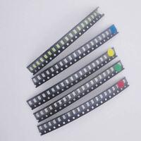 100pcs 5 Values 1206 SMD LED light Red White Green Blue Yellow Assotment Kit