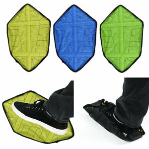 2 Pcs Step in Sock Reusable Waterproof Hand Free Automatic Overshoes Shoe Covers