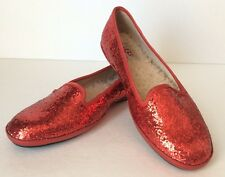UGG Australia ALLOWAY GLITTER Flats Red US 6 /EUR 37 /UK 4.5 NEW