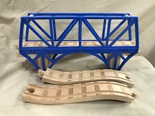 Thomas Train Engine Wooden Blue Sodor Bay Bridge C w/ Ramp Tracks