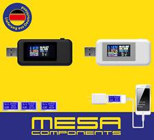 USB Voltmeter Strom Spannung Leistung Tester Power Watt 12V 24V Weiß