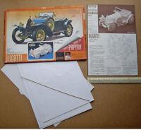 1978 Bugatti Car Press-out Origami Model Kit by Koichi Takahashi of Japan