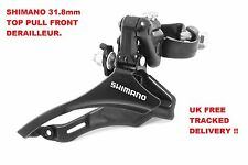 SHIMANO TZ TOURNEY FRONT DERAILLEUR 31.8mm TOP  PULL, BLACK, FREE DELIVERY !