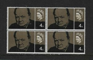 1965 GB. - Churchill Commemoration - Block of Four - Mint and Never Hinged.