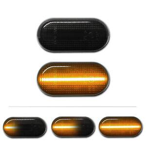 SCHWARZE dynamische LED Seitenblinker Smart Fortwo III 453 Coupe Cabrio Brabus