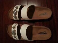 Arizona Mattie Slide Women Sandals White size  8.5 M SALE!