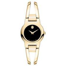 Movado Amorosa Museum Black Gold Ladies Swiss Quartz Watch 0606946