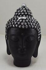Large Brushed Silver Decorative Buddha Head/Statue - Budda/Zen/Buddhism/Peace