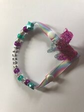 Personalised Sparkly UNICORN Dummy / Pacifier Clip ~ Glitter ~ NEW ~ PURPLE