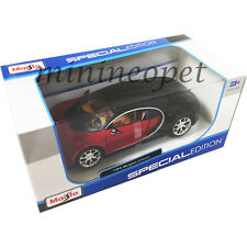MAISTO  31514 BUGATTI CHIRON 1/24 DIECAST MODEL CAR BLACK RED