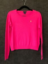 IMMACULATE - RALPH LAUREN BRIGHT PINK ROUND NECK  JUMPER - AGE 12 - 14