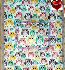 Silver cross coach & all other pram sets Blanket & pillow quilt  set (cute owls)