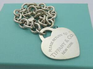 TIFFANY & CO Sterling Silver Return to Tiffany Large Heart Bracelet
