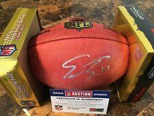 Emmanuel Sanders Autographed NFL Football   PSA