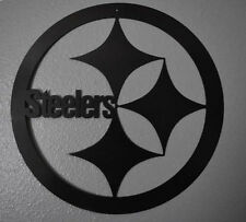 "Pittsburgh Steeler's 18"" round Metal Art"