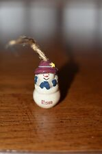 Alison Snowman Christmas Tree Ornament~painted ceramic~personalized