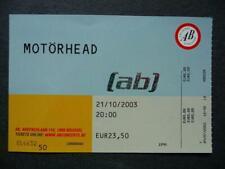 Motorhead ticket Ancienne Belgique  Brussels 21-10-03