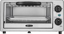 Bella - 4-Slice Toaster Oven - Black/silver (966)