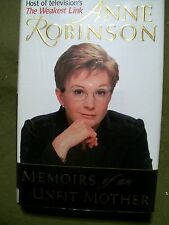 Memoirs of an Unfit Mother by Anne Robinson (2001, Hardcover) The Weakest Link