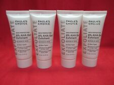 Paula's Choice 8% Aha Gel Exfoliant~Glycolic~Travel 15mL/0.5oz~Lotof4~New~Sea led