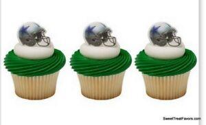 COWBOYS DALLAS Football CAKE CupCake Cake Topper 12 18 24 Favors Decoration Kit