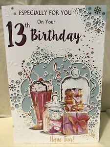 On Your 13th Birthday Greeting Card