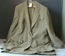 EUC Couture HORST BASLER Skirt SUIT Green PLUS Sz 44 FRESHLY CLEANED Rayon &Silk
