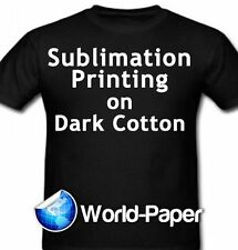 """5 Sheets Sublimation Printing for Dark Cotton Fabric 8.5"""" x 11""""  Heat Press :)"""
