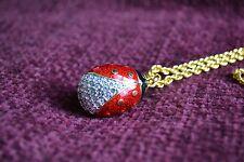 "Joan Rivers Large Ladybug Egg Pendant w/ 30"" Chain"