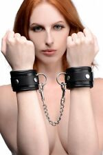 Mistress Isabella Sinclaire Premium Leather Wrist Cuffs Bondage Handcuffs Restra