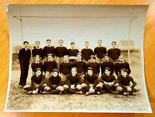 1926 BOYS FOOTBALL TEAM at Goalpost WESTWOOD NJ HIGH SCHOOL Antique Photograph